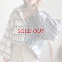 【再入荷】over w check shirts jk