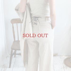 画像1: linen lace up pants