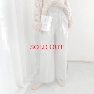 画像1: brushed pale tone wide pants