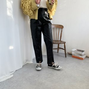 画像2: eco leather  pants